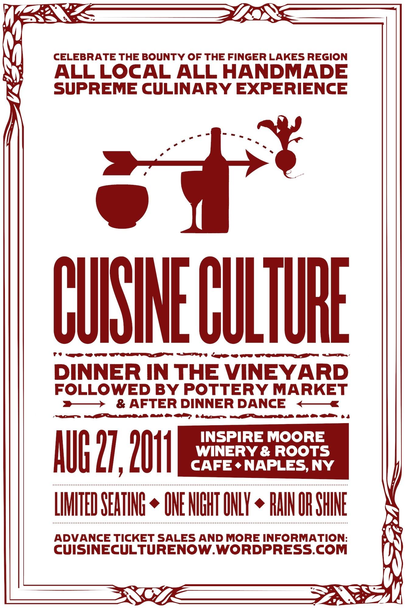 presenting the cuisine culture poster! | cuisine culture now